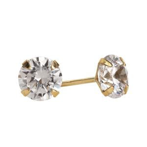 9kt Yellow Gold CZ Stud Earrings