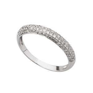 0.30ct 9kt White Gold Pave Eternity Band