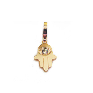 Bronze Rose Plated CZ Hamsa Drop