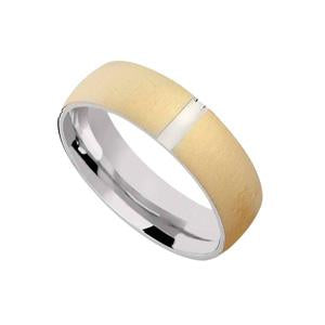 Silver and Gold Plated Wedding Band