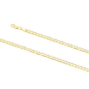 4.0mm wide, 19cm Curb link bracelet