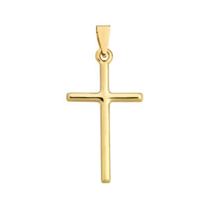 9kt Yellow Gold Medium Cross Pendant
