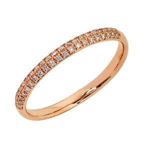 9kt Rose Gold Pave Diamond Ring