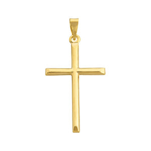9kt Yellow Gold Large Cross Pendant