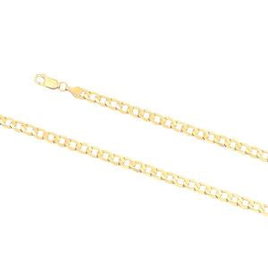 6.3mm wide, 21cm Curb link bracelet