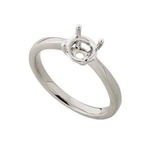0.75ct 18kt White Gold Ring Mount