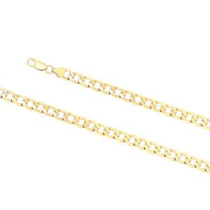 8.0mm wide, 21cm Curb link bracelet