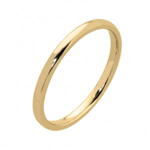 9kt Yellow Gold Plain Straight Side Band