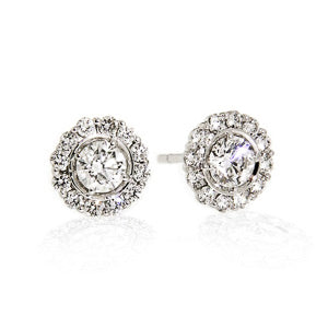 1.00ct Petals Diamond Stud Earrings