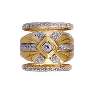 9kt Yellow Gold Trip Set Ring