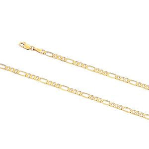 3.2mm wide, 19cm Figaro 3+1 bracelet