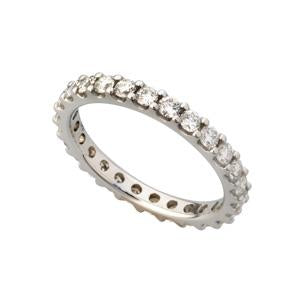 1ct 18kt White Gold Full Eternity Ring