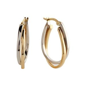 9kt Yellow and White Gold Earring