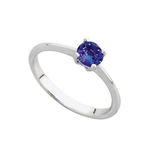 9kt White Gold 0.20ct Tanzanite Solitaire Ring