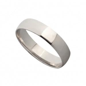 2mm 9kt White Gold Wedding Band