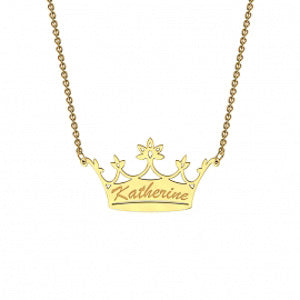 Memi Crown Personalised Necklace