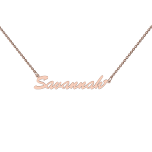 Memi Personalised Single Name Necklace
