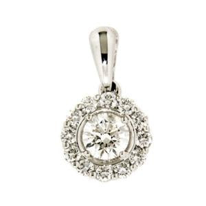0.50ct Petals Diamond Pendant