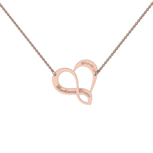 Memi Personalised Infinity Heart Necklace