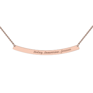 Memi Personalised Bold Curve Bar Necklace