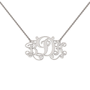 Memi Personalised 3 initial Monogram Necklace