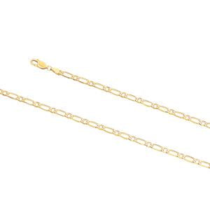 4.0mm wide, 19cm Figaro 1+1 bracelet
