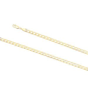 4.0mm wide, 21cm Curb link bracelet