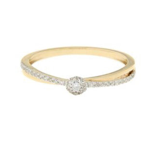Yellow Gold Diamond Bridal Ring