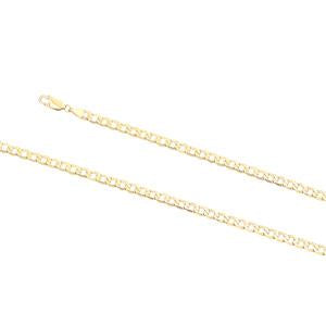 5.0mm wide, 19cm Curb link bracelet