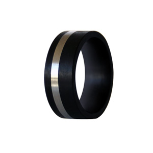 Black Carbon Fibre Ring