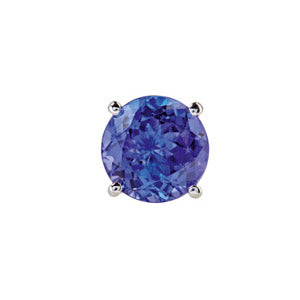 18kt White Gold 4 Claw Tanzanite Stud