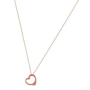 9kt Rose Gold Large Heart Slider Pendant