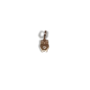 Bronze Rose Plated CZ Owl Drop