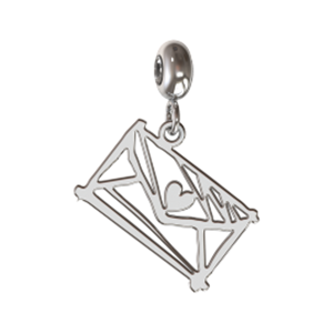 Memi Beauty and Passion Sketch Love Letter Charm