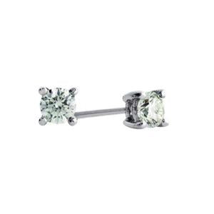9kt White Gold Diamond Studs 0.10ct