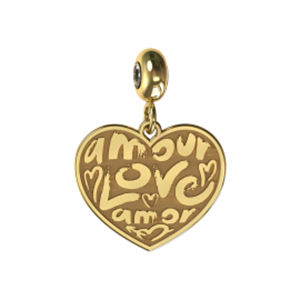 Memi Beauty and Passion Amour Heart Charm