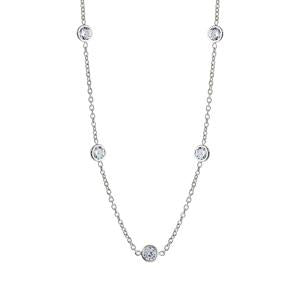 Silver Fancy CZ Necklace
