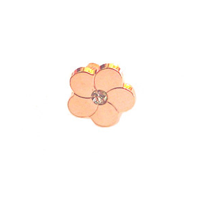 Bronze Rose Plated CZ Flower Slider