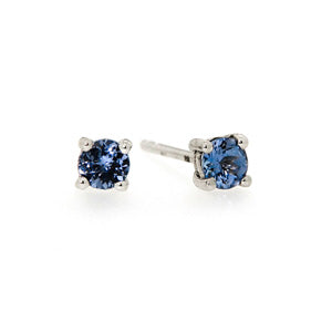0.20ct African Blue Tanzanite Solitaire Earring
