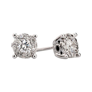 0.36ct Illusion Set Diamond Earrings