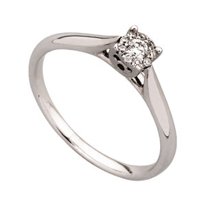 0.09ct Illusion Set Diamond Ring