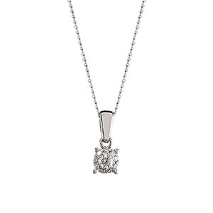 0.09ct Illusion Set Diamond Pendant