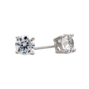 Silver and CZ Stud Earrings