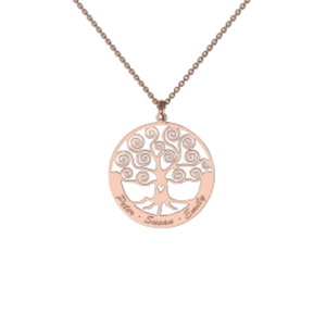 Memi Personalised Tree of Life Necklace