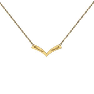 Memi Personalised V-Bar Necklace