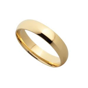 5mm 9kt Yellow Gold Wedding Band