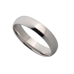 5mm 9kt White Gold Wedding Band