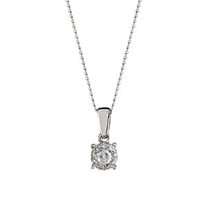 0.15ct Illusion Set Diamond Pendant