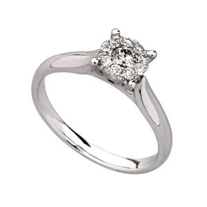 0.33ct Illusion Set Diamond Ring