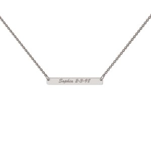 Memi Personalised Classic Bar Necklace